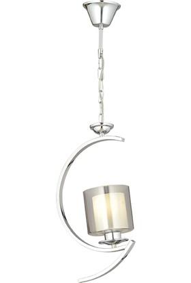 Luna Lighting Modern Kollu Tekli Krom Kaplama Metal Avize