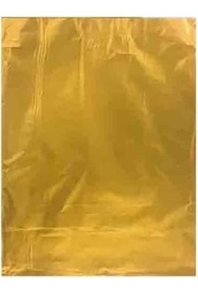 Bkr Lüks Metalize Hediye Poşeti 12X17 cm 50 Adet Gold