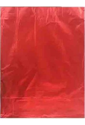 Bkr Lüks Metalize Hediye Poşeti 30X45 cm 50 Adet Kırmızı