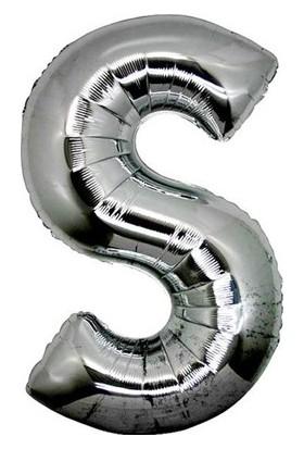 Acar Süs Gümüş Renk S Harf Folyo BALON(40INÇ) 100 cm