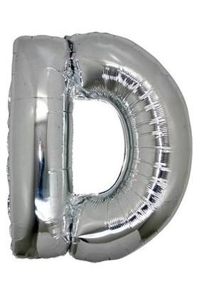 Acar Süs Gümüş Renk D Harf Folyo BALON(40INÇ) 100 cm