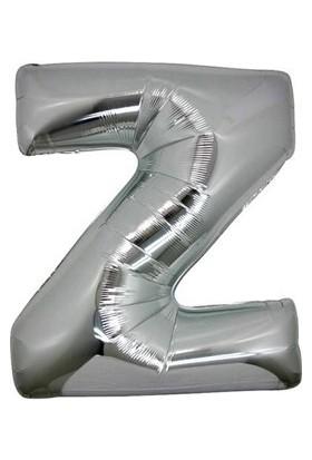 Acar Süs Gümüş Renk Z Harfi Folyo BALON(16INÇ) 40 cm