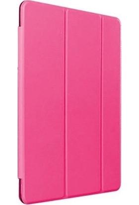 Happyshop Huawei Mate Pad T10S Kılıf Arkası Şeffaf Standlı Sert Smartcase Pembe