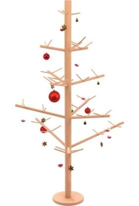 Merry Ahşap Yılbaşı Ağacı