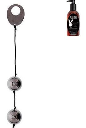 Domino Metallic Balls Black ve Playboy Masaj Yağı