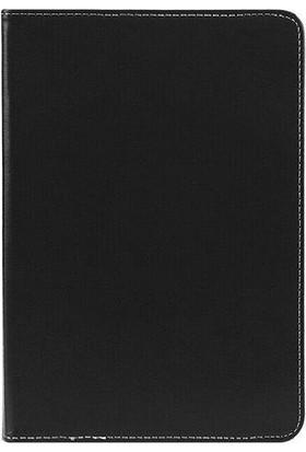 "Teknoliman Casper Via S10 10.1"" Dönerli Standlı Deri Tablet Kılıfı Siyah"