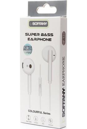Soffany Süper Bas Kulaklık Mikrofonlu HF-510 - Beyaz