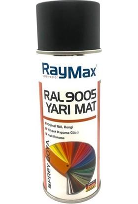 Raymax Akrilik Sprey RAL9005 Yarı Mat Siyah 400ML.MADE In Germany