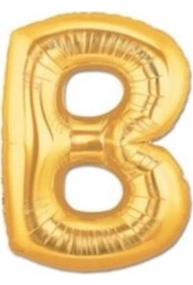 Acar Süs Altın Renk B Harf Folyo Balon 40 İnç 100 cm