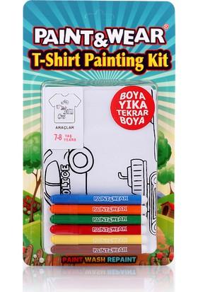 Paint&wear Araçlar Boyama Seti 7-8 Yaş