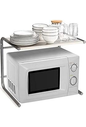 Esconcept Mikrodalga Fırın Rafı,mutfak Tezgahı Düzenleyici (Boyut: 49.5X37X40.5CM)