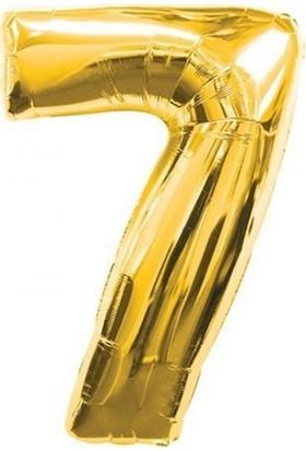 Acar Süs Altın Renk 7 Rakamı Folyo Balon 16 İnç 40 cm