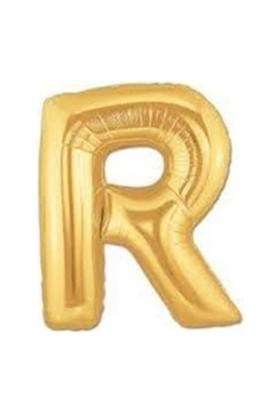 Acar Süs Altın Renk R Harf Folyo Balon 40 İnç 100 cm
