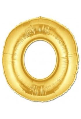Acar Süs Altın Renk O Harfi Folyo Balon 16 İnç 40 cm