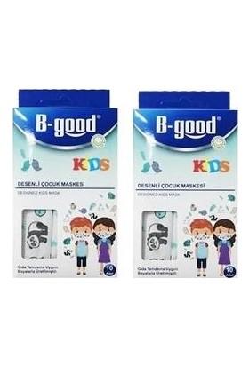 B-Good Kids 3 Katlı Desenli Çocuk Maskesi 10LU 2 Kutu