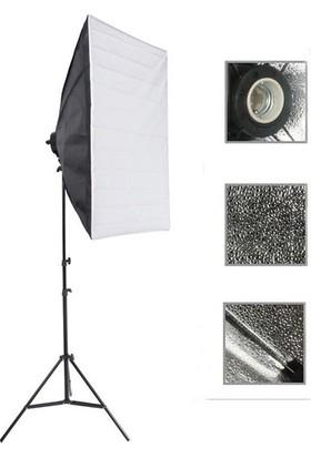DP Softbox 50X70Cm Tek Duyulu Sürekli Video Işığı Yotuber Kit Makeup Kit