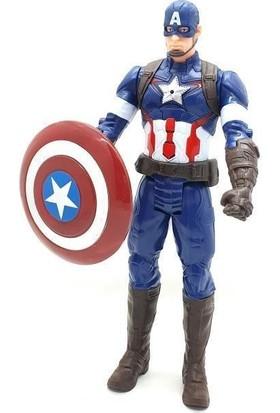 Yeni Sepetim Captain America Işıklı Sesli Titan Hero 30CM Figür Avengers Infinity War