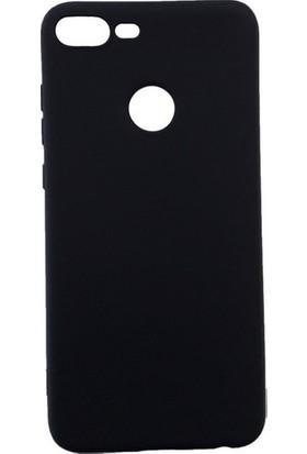 CepArea Huawei Honor 9 Lite Kılıf Ince Renkli Yumuşak Silikon Kapak Case + Kırılmaz Cam Siyah