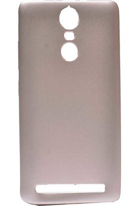 CepArea Lenovo K5 Note Kılıf Ince Renkli Yumuşak Silikon Kapak Case + Kırılmaz Cam Rose Gold