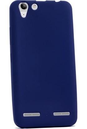 CepArea Lenovo Vibe K5 Kılıf Ince Renkli Yumuşak Silikon Kapak Case + Kırılmaz Cam Lacivert