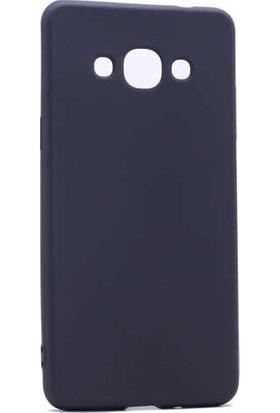 CepArea Samsung Galaxy J3 Pro Kılıf Ince Renkli Yumuşak Silikon Kapak Case + Kırılmaz Cam Siyah