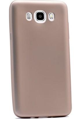 CepArea Samsung Galaxy J7 2016 Kılıf Ince Renkli Yumuşak Silikon Kapak Case Gold