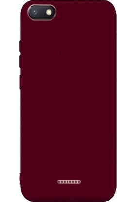 CepArea Xiaomi Redmi 6A Kılıf Ince Renkli Yumuşak Silikon Kapak Case + Kırılmaz Cam Mürdüm