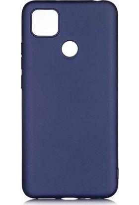 CepArea Xiaomi Redmi 9c Kılıf Ince Renkli Yumuşak Silikon Kapak Case + Kırılmaz Cam Lacivert