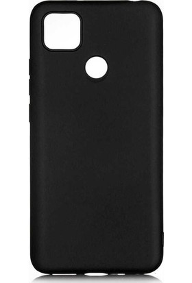 CepArea Xiaomi Redmi 9c Kılıf Ince Renkli Yumuşak Silikon Kapak Case + Kırılmaz Cam Siyah