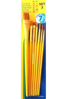 Aşkar Tuval Seti 7'li + Fanart Fırça Seti 7'li