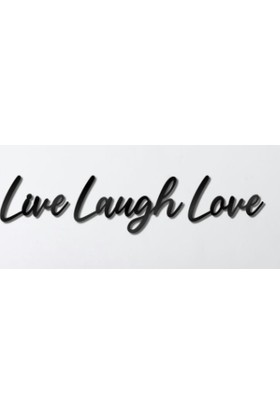 Omart Design Live Laugh Love Metal Duvar Yazısı