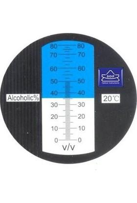Soif Val 1 El Tipi Refraktometre -0-80% V/v Vol Alkol ve Şeker-