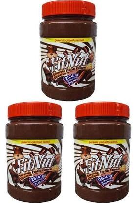 Fitnut Şekersiz Çikolatalı Yer Fıstığı Ezmesi 800 gr x 3'lü