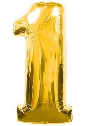 Acar Süs Altın Renk 1 Rakamı Folyo BALON(16INÇ) 40 cm