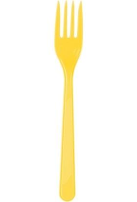 Acar Süs 25'li Sarı Plastik Çatal