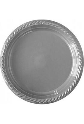 Acar Süs 25'li Gümüş Plastik Tabak