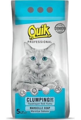 Quik Marsilya Sabunlu İnce Topaklaşan Kedi Kumu 5 lt
