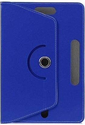 """Teknoliman Samsung Galaxy Tab A6 T280Q 7"""" Dönerli Standlı Deri Kılıf Lacivert"""