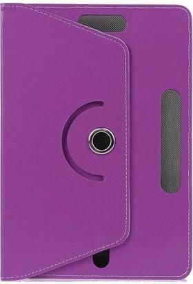 "Teknoliman Samsung Galaxy Tab S6 Lite P610 10.4"" Dönerli Standlı Deri Kılıf Mor"