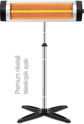 Süsler Çift Flamentli 2900 W Infrared Elektrikli Soba Isıtıcı + Isıtıcı Ayağı