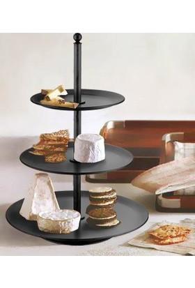 Mia Pasta & Kek Servisi 52 x 37 cm - Siyah