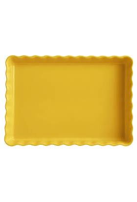 Emile Henry Tart Kalıbı Dikdörtgen Sarı