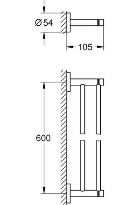 Grohe Essentials 2'li Havluluk 40802A01