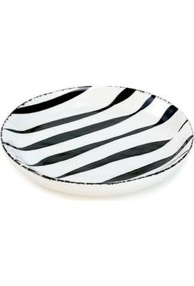Melly & Merry Çizgili Pasta Tabağı 19 cm
