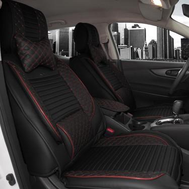 stil luks oto koltuk kilifi siyah bordo volkswagen tiguan fiyati