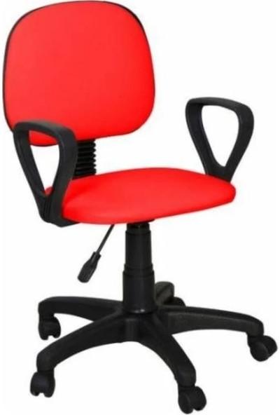 Bitirdin Kırmızı Ofis Çalışma Sandalyesi