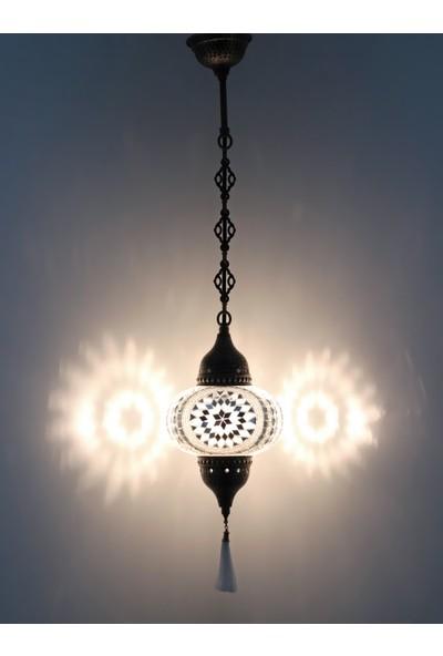 Atölye Lamp Design Mozaik Beyaz Tekli Sarkıt Lamba