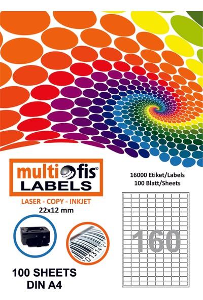 Multiofis 22X12 Mm Laser Etiket 5280