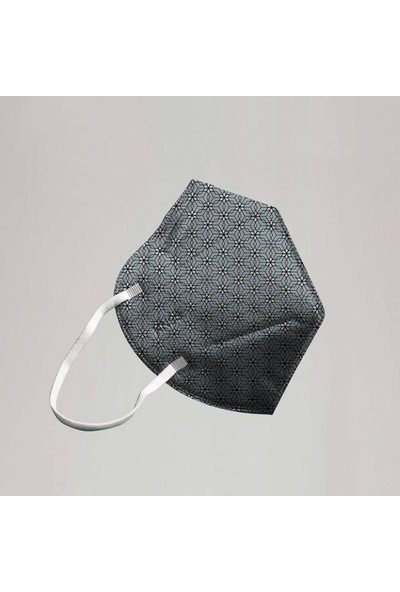 3nnn N95 / Ffp2 Geometrik Desenli Full Ultrasonic Maske 5' li