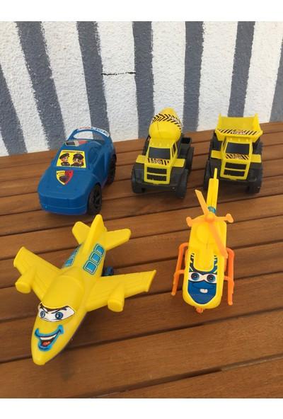 Evimsan Mini Helikopter + Uçak + Polis Arabası + Mikser + Kamyon 5'li Set